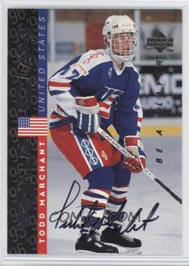 1995-96 Upper Deck Be a Player - [Base] - Autographs [Autographed] #S190 - Todd Marchant