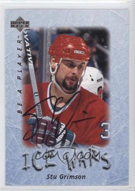 1995-96 Upper Deck Be a Player - [Base] - Autographs [Autographed] #S224 - Stu Grimson