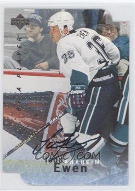 1995-96 Upper Deck Be a Player - [Base] - Die-Cut Autographs [Autographed] #S155 - Todd Ewen