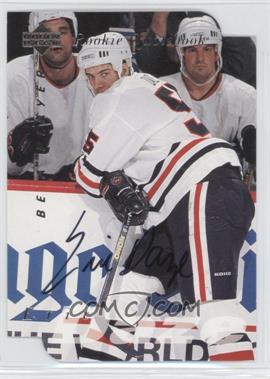 1995-96 Upper Deck Be a Player - [Base] - Die-Cut Autographs [Autographed] #S170 - Eric Daze