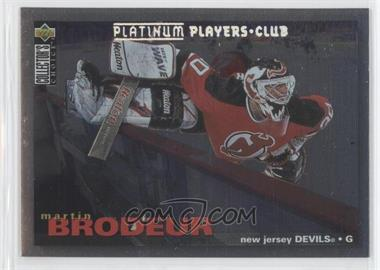 1995-96 Upper Deck Collector's Choice - [Base] - Platinum Player's Club #204 - Martin Brodeur