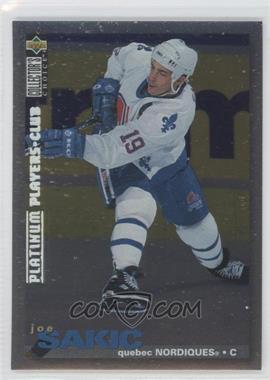 1995-96 Upper Deck Collector's Choice - [Base] - Platinum Player's Club #288 - Joe Sakic