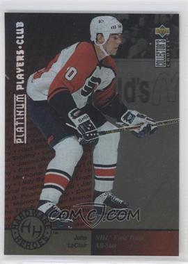 1995-96 Upper Deck Collector's Choice - [Base] - Platinum Player's Club #376 - John LeClair