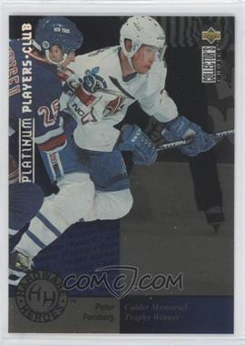 1995-96 Upper Deck Collector's Choice - [Base] - Platinum Player's Club #391 - Peter Forsberg
