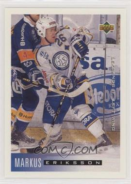 1995-96 Upper Deck Swedish - [Base] #111 - Markus Eriksson