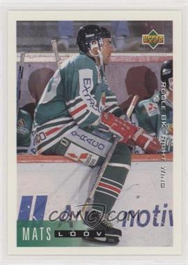 1995-96 Upper Deck Swedish - [Base] #185 - Mats Loov