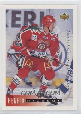 1995-96 Upper Deck Swedish - [Base] #218 - Henrik Nilsson