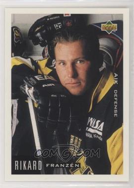 1995-96 Upper Deck Swedish - [Base] #4 - Rikard Franzen