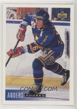 1995-96 Upper Deck Swedish - [Base] #45 - Anders Huusko [EXtoNM]