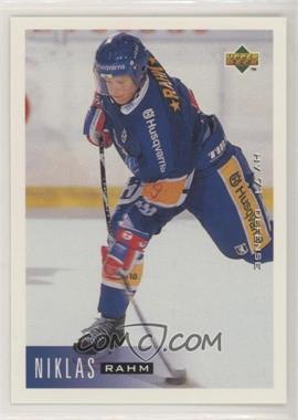 1995-96 Upper Deck Swedish - [Base] #77 - Niklas Rahm