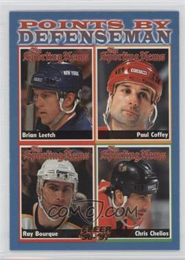 1996-97 Fleer - [Base] #140 - Brian Leetch, Paul Coffey, Ray Bourque, Chris Chelios