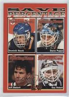 Dominik Hasek, Daren Puppa, Jeff Hackett, Guy Hebert