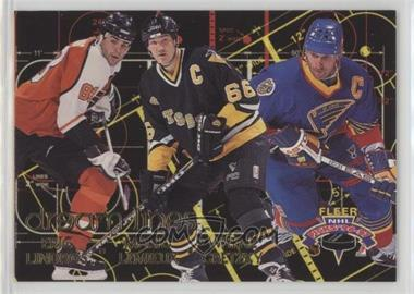 1996-97 Fleer NHL Picks - Dream Lines #1 - Eric Lindros, Mario Lemieux, Wayne Gretzky