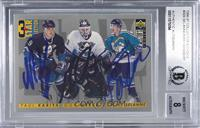 3 Star Selection - Paul Kariya, Guy Hebert, Teemu Selanne [BGS Authentic]