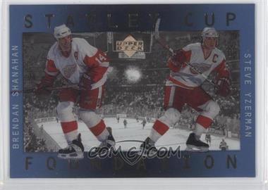 1996-97 Upper Deck Ice - Stanley Cup Foundations #S2 - Steve Yzerman, Brendan Shanahan