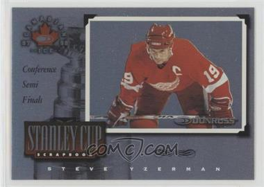 1997-98 Donruss Canadian Ice - Stanley Cup Scrapbook #19 - Steve Yzerman /1500