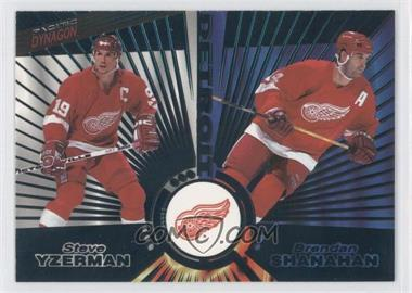 1997-98 Pacific Dynagon - [Base] - Emerald #139 - Steve Yzerman, Brendan Shanahan