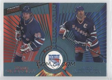 1997-98 Pacific Dynagon - [Base] - Ice Blue #140 - Wayne Gretzky, Mark Messier