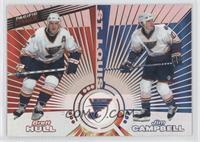 Brett Hull, Jim Campbell, Grant Fuhr