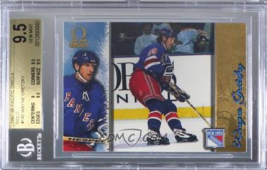 1997-98 Pacific Omega - [Base] - Gold #145 - Wayne Gretzky [BGS9.5GEMMINT]