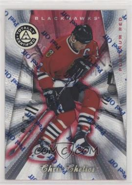 1997-98 Pinnacle Totally Certified - [Base] - Platinum Red #74 - Chris Chelios /6199