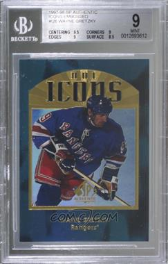1997-98 SP Authentic - NHL Icons - Embossed #I26 - Wayne Gretzky [BGS9MINT]