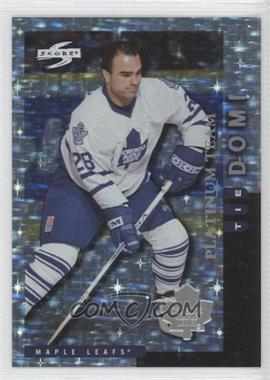 1997-98 Score Team Collection - Toronto Maple Leafs - Platinum Team #8 - Tie Domi
