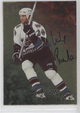 1998-99 In the Game Be A Player - [Base] - Gold Autographs #150 - Michal Pivonka