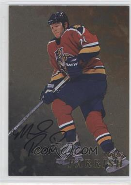 1998-99 In the Game Be A Player - [Base] - Gold Autographs #206 - Mark Parrish