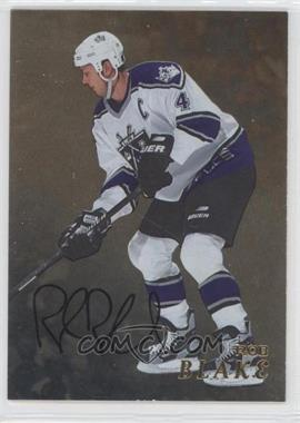 1998-99 In the Game Be A Player - [Base] - Gold Autographs #212 - Rob Blake