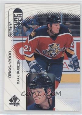 1998-99 SP Authentic - [Base] #97 - Mark Parrish /2000