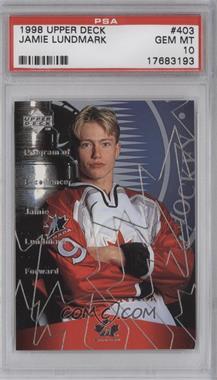 1998-99 Upper Deck - [Base] #403 - Jamie Lundmark [PSA10]