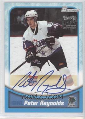 1999-00 Bowman CHL - Autographs - Silver #BA37 - Peter Reynolds