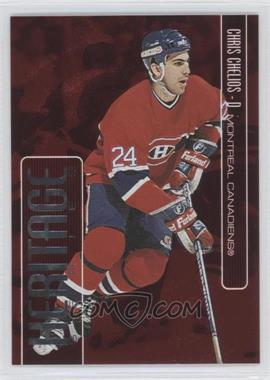 1999-00 In the Game Be A Player Memorabilia - Heritage - Red #H-20 - Chris Chelios /1000
