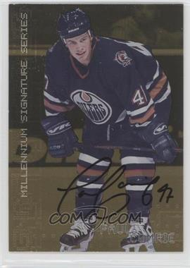 1999-00 In the Game Be A Player Millennium Signature Series - [Base] - Gold Autograph [Autographed] #105 - Paul Comrie