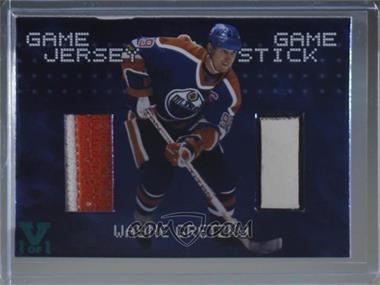 1999-00 In the Game Be A Player Millennium Signature Series - Game Jersey Game Stick - ITG Vault Teal #JS-09 - Wayne Gretzky /1 [Noted]