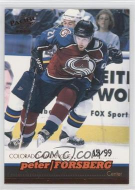 1999-00 Pacific - [Base] - Copper #105 - Peter Forsberg /99