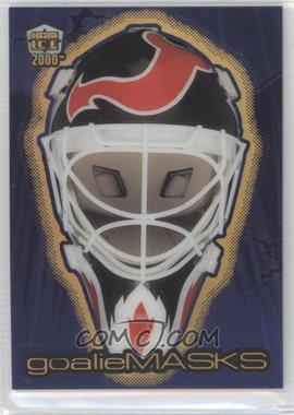 1999-00 Pacific Dynagon Ice - Goalie Masks - Holo Gold #2 - Martin Brodeur /99