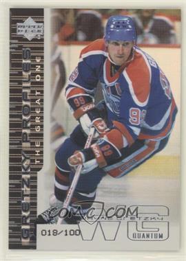 1999-00 Upper Deck - Gretzky Profiles - Quantum Silver #GP3 - Wayne Gretzky /100