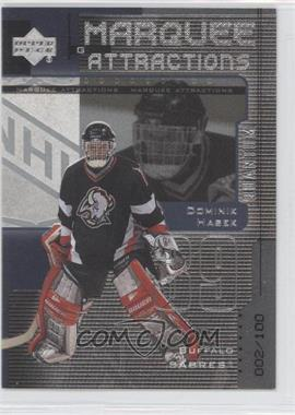 1999-00 Upper Deck - Marquee Attractions - Silver Quantum #MA5 - Dominik Hasek /100