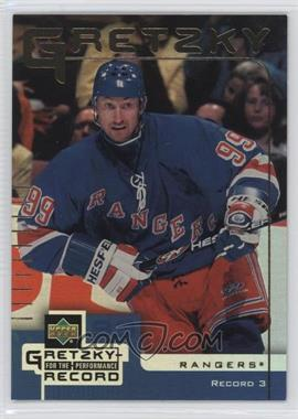 1999-00 Upper Deck Gretzky Performance for the Record McDonald's - [Base] #3 - Wayne Gretzky