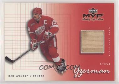 1999-00 Upper Deck MVP Stanley Cup Edition - Game Used Souvenirs #GU-SY - Steve Yzerman