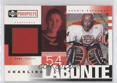 1999-00 Upper Deck Prospects - Jerseys #CL - Charline Labonte