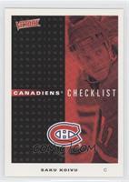 Canadiens Checklist