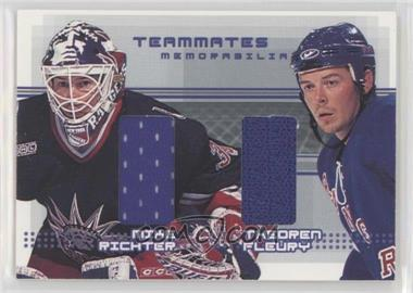 2000-01 In the Game Be A Player Memorabilia Rookie & Traded Update - Teammates Memorabilia #TM-19 - Mike Richter, Theoren Fleury