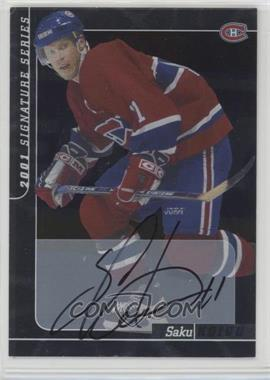 2000-01 In the Game Be A Player Signature Series Autographs - [Base] #163 - Saku Koivu