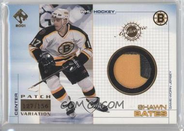 2000-01 Pacific Private Stock - Game-Used Gear - Patch #4 - Shawn Bates /156