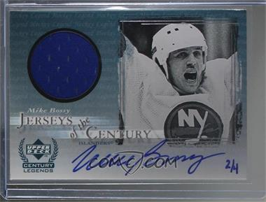 2000-01 SP Authentic - Autographed Buybacks #MIBO - Mike Bossy (Jerseys of the Century) /4
