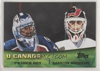 Patrick Roy, Martin Brodeur [EX to NM]