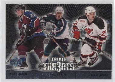 2000-01 Upper Deck - Triple Thr3ats #TT1 - Paul Kariya, Scott Gomez, Milan Hejduk
